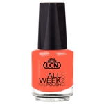 All Week Long - grapefruit sorbet - love it! nail polish, extended wear polish, top coats, nails, nail art