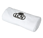 LCN Towel, white (black logo)