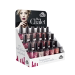 WOW Hybrid Gel Polish Display - Mon Chalet hybrid gel polish, gel polish, shellac, nail polish, fast drying nail polish